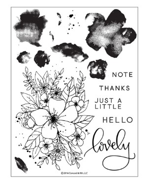 Concord and 9th Hello Lovely Stamp Set