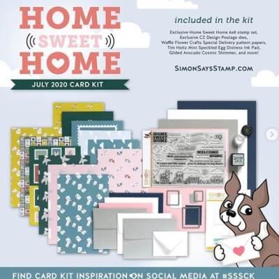 Simon Says Stamp July Card Kit – Home Sweet Home