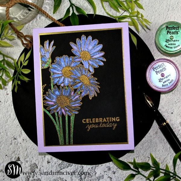 Simon Says Stamp Metallic Daisy Bouquet