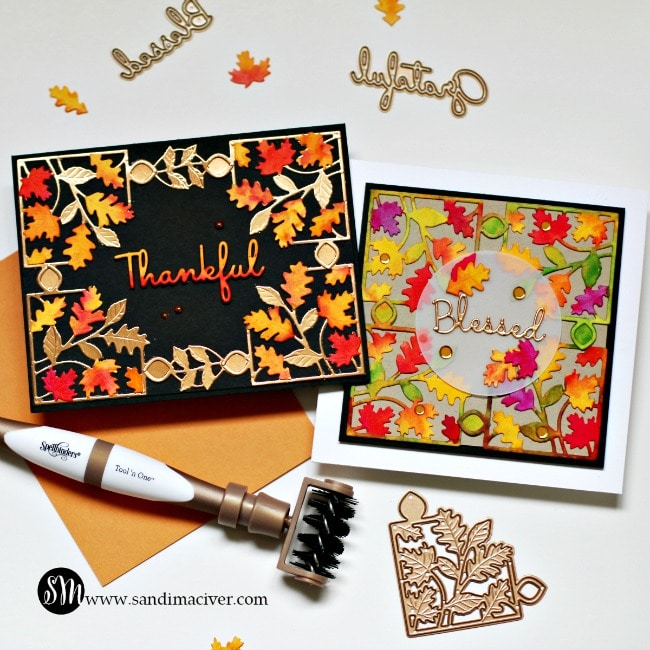 Spellbinders October Small Die of the Month both Cards