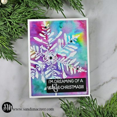 New Video Nuvo Shimmer Powder Snowflake Cards