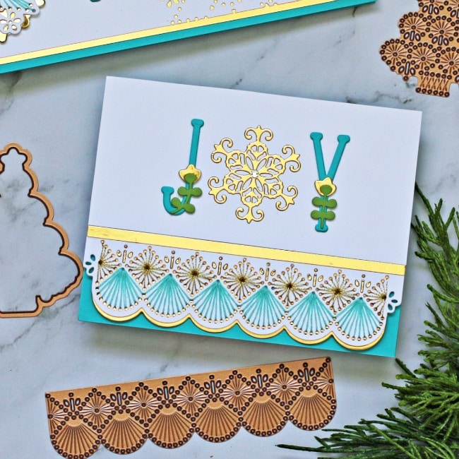 Spellbinders Large Die of the Month Stitched Cards Joy