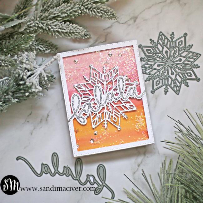Simon Says Stamp falala snowflake card
