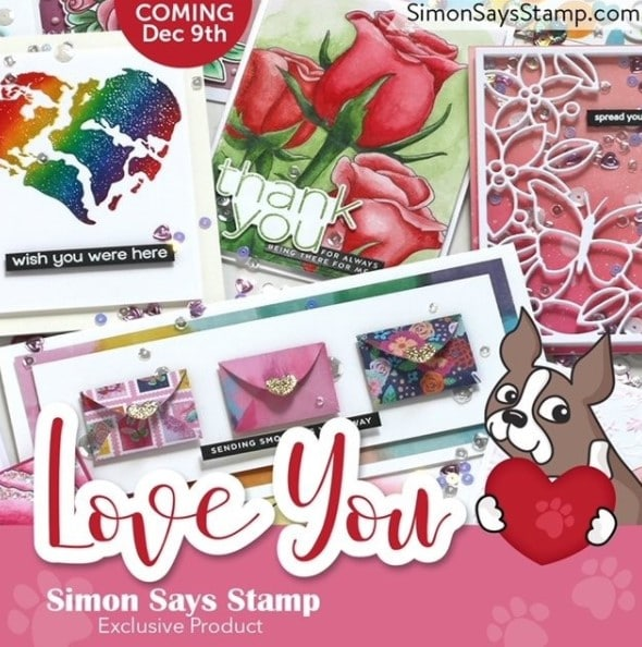 SImon Says Stamp new release - LOVE YOULove You Release square