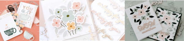 image of handmade greeting cards using cardmaking supplies from Pigment Ink