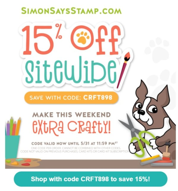 card making and paper crafting supplies on sale for 15 percent off at Simon Says Stamp