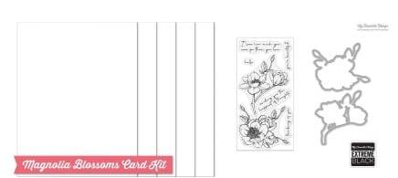 magnolia blossoms card making kit