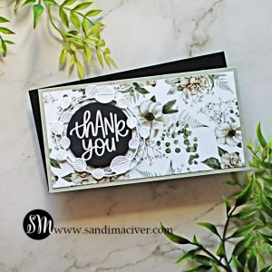 hand made mini slimline card created with cardmaking products from Simon Says Stamp