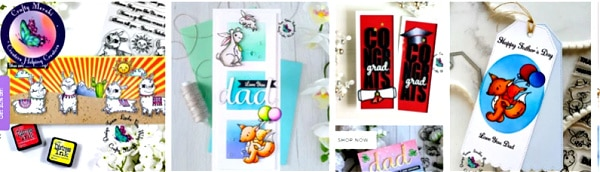 hand made greeting cards created with products from Crafty Meraki
