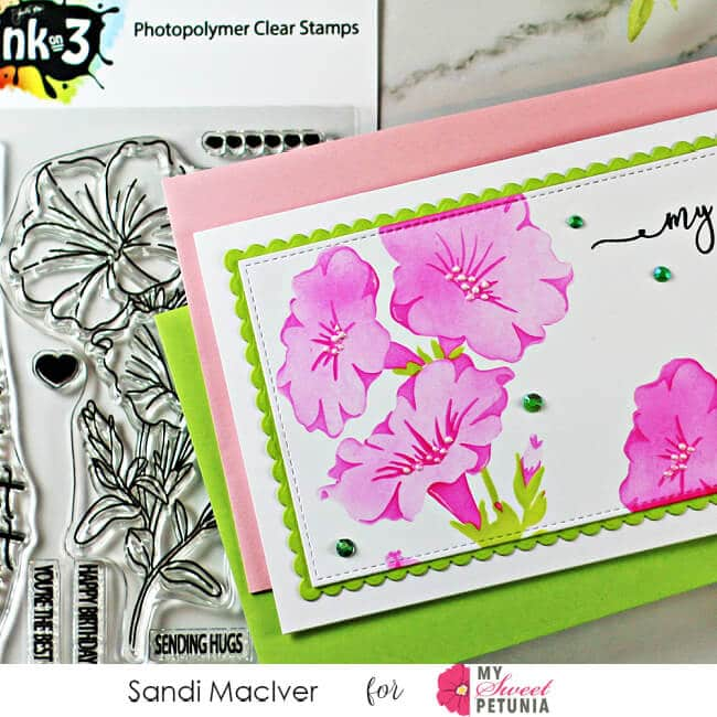 Mind Blowing Triple Layer Stencil hand made greeting card using a three layer stencil from Ink on 3