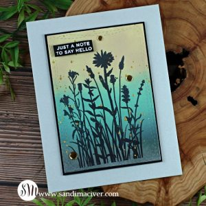 handmade greeting card with distress oxide inks