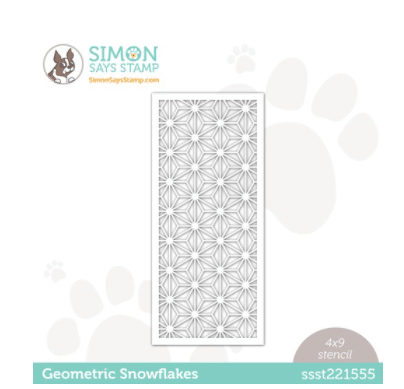 long skinny stencil for card making and papercrafting from SImon Says Stamp