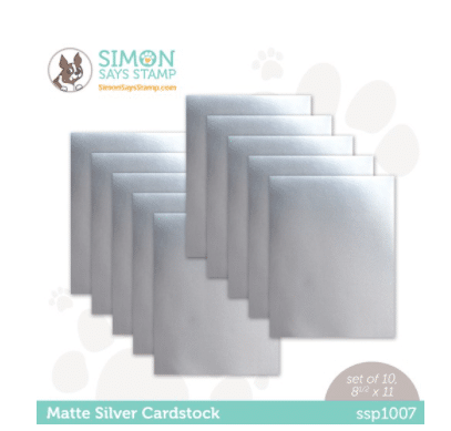 matte silver cardstock used in card making and paper crafting from Simon Says Stamp