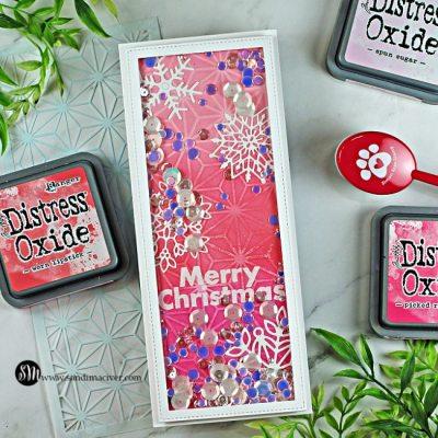 Stenciled Slimline Christmas Cards