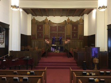 Our organ & chancel.