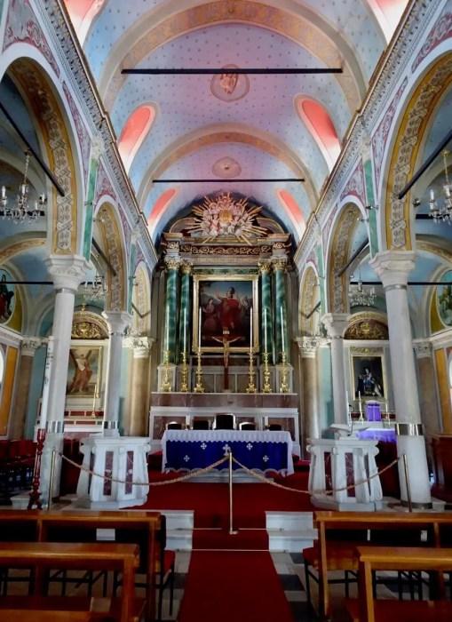 Inside Agios Giorgios Church, Ano Syros, Greece