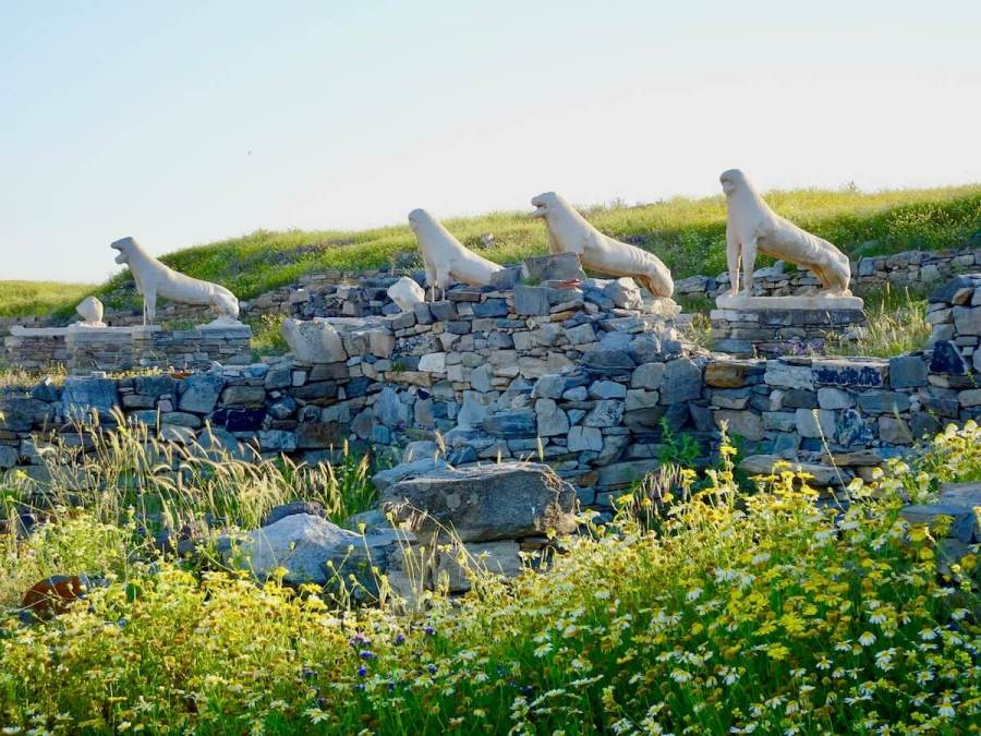 Lions of Ancient Delos, Greek photo tour