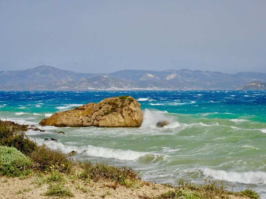 High winds on the Aegean Sea, Paros