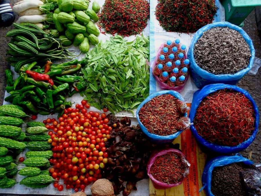 produce market in Southeast Asia