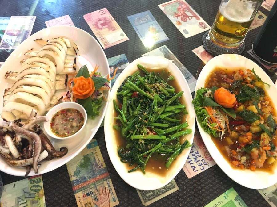 3 dishes of Thai food-Best areas to stay in Phuket