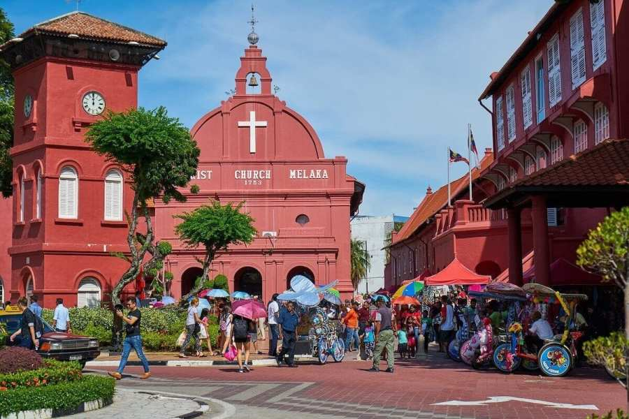 Melaka Christ Church-places to go in Malaysia