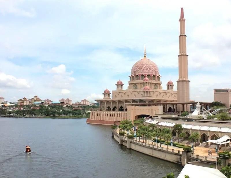 Pink Putrajaya Mosque in Malaysia