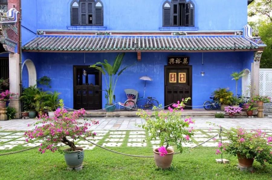 Cheong fatt tze blue mansion outside