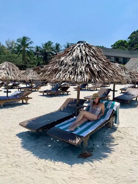 me in a beach palapa: short getaway in malaysia