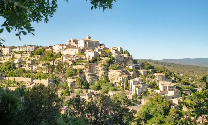 Hilltop village in Provence, France