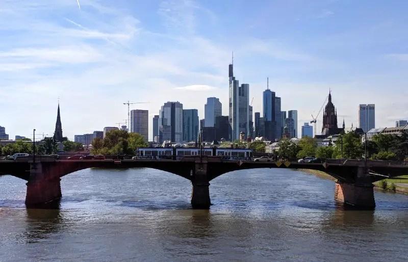 River and skyline of Frankfurt, Germany