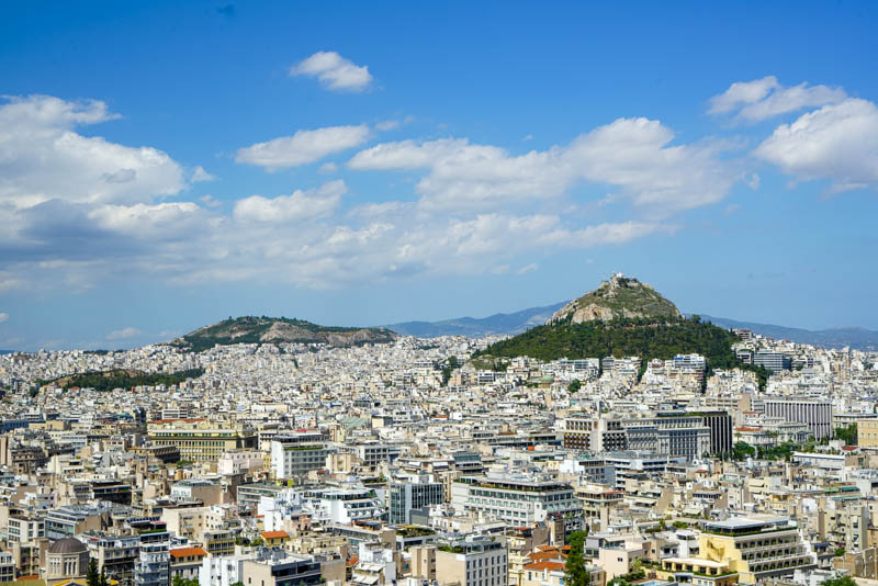 city scape of Athens, Greece.