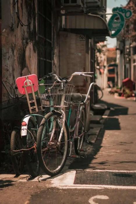Bikes in am alleyway