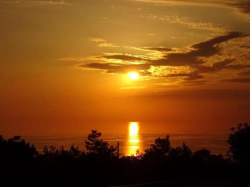 brilliant orange sunset