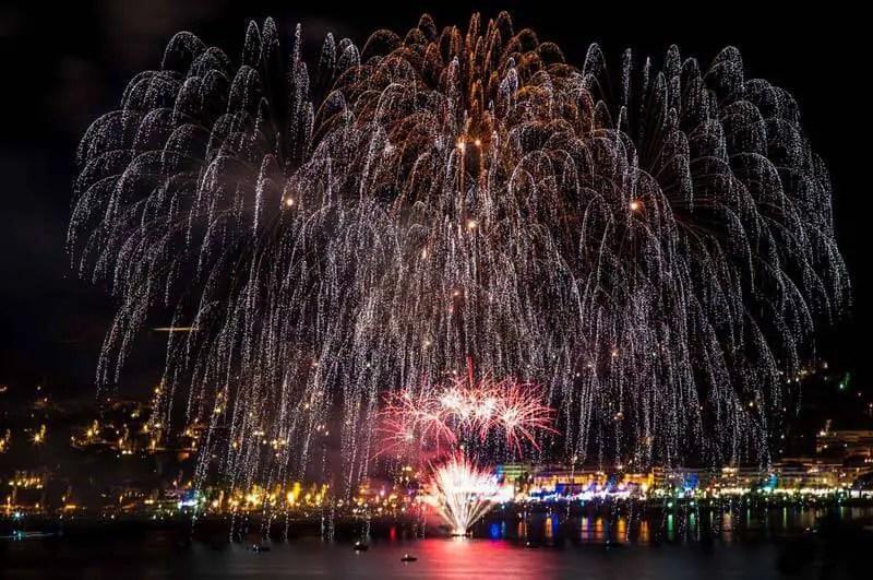 Massive fireworks display Portugal