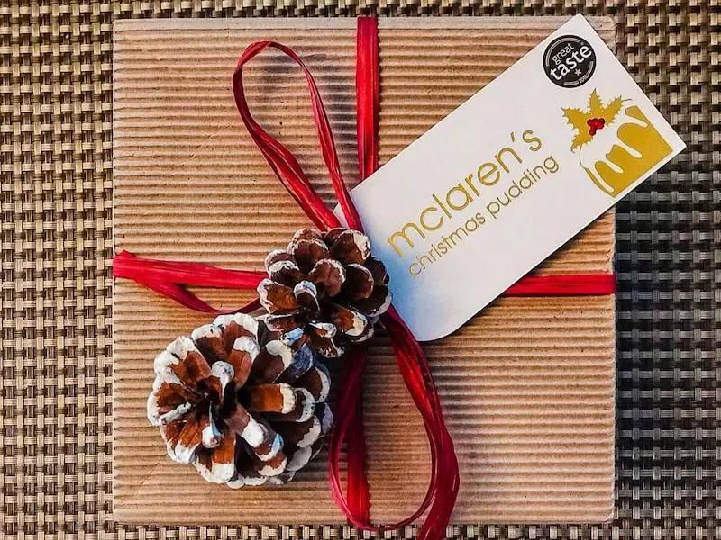 Christmas pudding box England: Abroad at Christmas