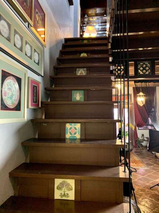 staircase with tiles in them