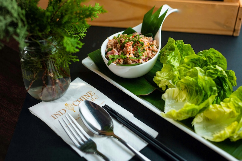 Larb moo lettuc cups Food delivery Penang