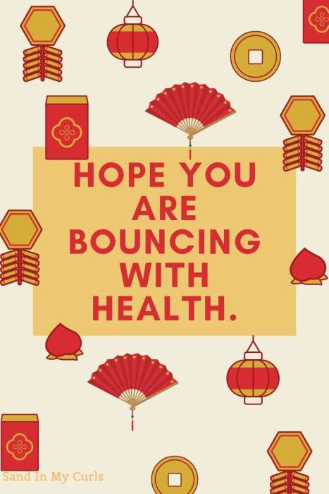 bouncing with health CNY quote
