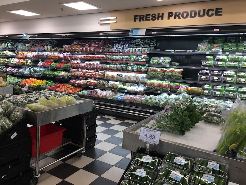 fresh produce section of malaysian supermarket