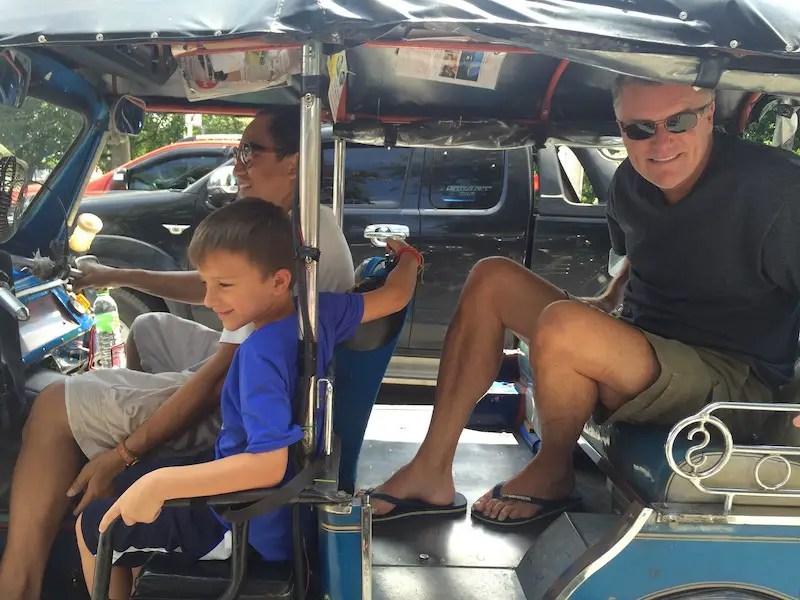 three guys in a tuk tuk: expat life