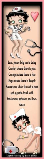 Nurses Prayer Betty Boop 1