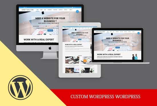 Sand It Solution will build custom wordpress website
