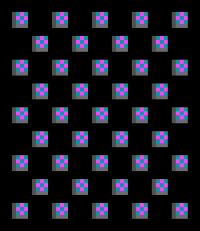 11 x 9 diagonal no border