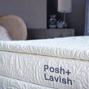 posh+lavish 2″ latex pillow topper