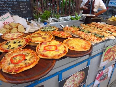 Et d'autres plats bien plus occidentalisés comme les pizzas