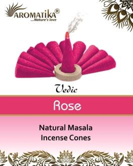AROMATIKA CONES VEDIC MASALA ROSE (couleurs végétales)