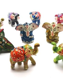 P.E. ELEPHANT, CHOUETTE & GANESH LAQUES