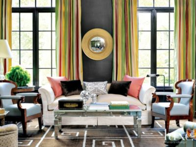 Living Room With Color Luxe Interiors Design