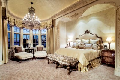 Formal Feminine Master Bedroom Luxe Interiors Design