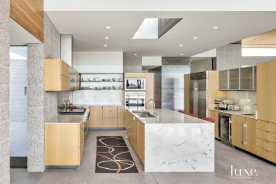 Contemporary White Kitchen With Expansive Island Luxe